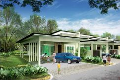 NEW EXTRA LARGE Single Storey Terrace at 12 Miles Kuching-Serian Road