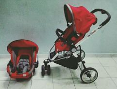 Stroller scr 6 and baby carrier scr 7.