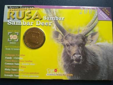 Malaysia coin card animal series