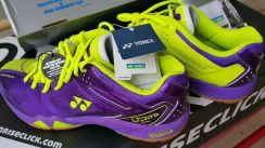 Kasut Badminton Yonex SHB 02 LTD Purple Yellow Ori