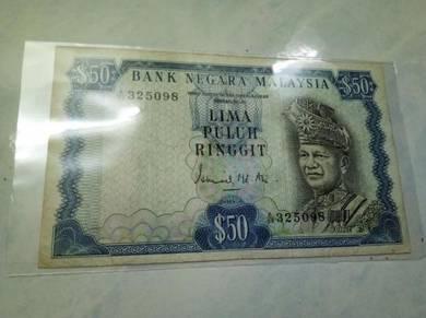 Duit Lama RM50 Ismail Md Ali