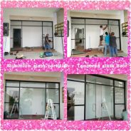 Aluminium Glass Partition / Door / Tempered Glass