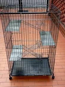 Sangkar Kucing Hammertone Silver Plaform besi