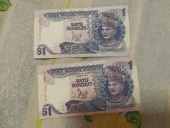 Old malaysia 1 dollar. In perfect condition.