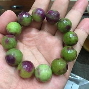 Red Emarald Crystal Bracelet-light green