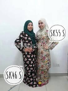 Baju kurung english cotton Dhia