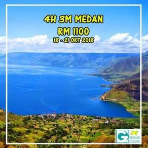 Pakej : 4h3m medan lake toba, indonesia