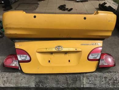 Toyota Altis Facelift Bodypart Belakang Usdm