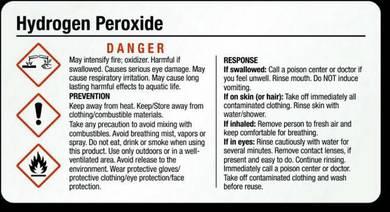 Hydrogen Peroxide - H202 35% (Per Bottle)