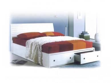 Katil queen kayu bed bedframe perabot 500