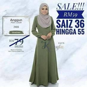 Anggun.plain jubah 005