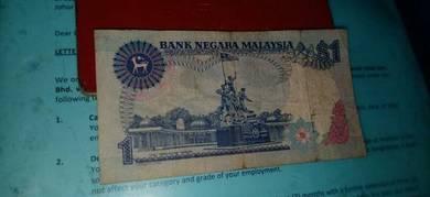 Duit kertas Rm 1 for sale Rm 5000