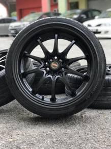 Ce28 18 inch sports rim honda civic fd tyre 80%
