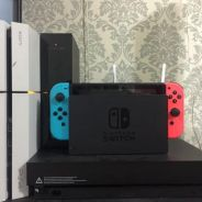 Nintendo switch with 8 game digital include