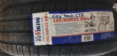Tayar Baru Viking CT6 195 60 15 Tyre New 2019
