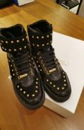 Versace Collection gold and black leather boot