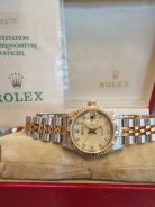 Rolex lady datejust 69173G diamond with certificat