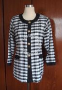 Classic Black & White Checked Blouse