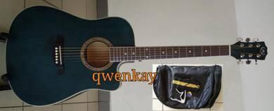 Acoustic Guitar 41Inch A&K #320 Deep Blue