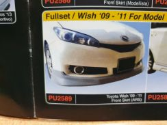 Toyota wish modellista ars bodykit with paint pu 1