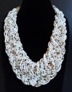 Vintage Braided Beads Necklace