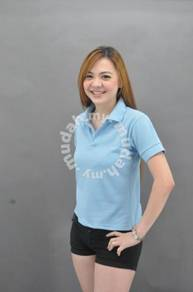 Sky Blue Polo TShirt T Shirt Cotton Kosong Plain A