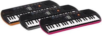 CASIO Mini Keyboard SA-76(Orange) / SA77(Grey) /