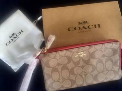 Coach Large Double Zip Wallet