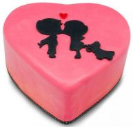 Valentine Gift - love shaped cakes