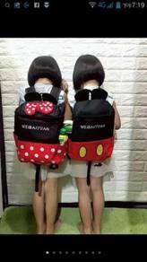 Mickey minnie backpack school bag