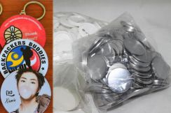 Button Badge Keychain 58mm Material