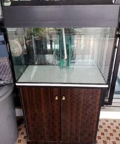 2.5 Ft aquarium cabinet.