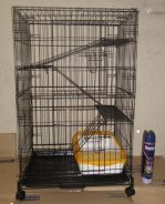 New 3 Level cat Cage With Roda