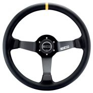 Sparco 345 Steering Wheel Black Suede - 350mm