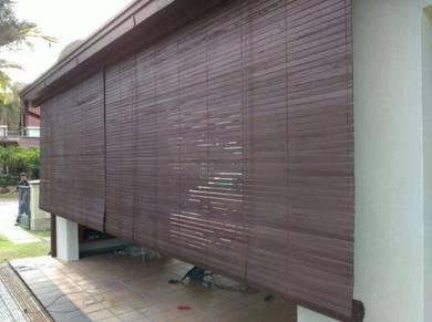 Bidai Kayu Meranti Wooden Blind -Tahan Lasak Cuaca