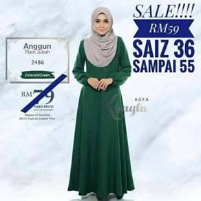 Anggun.plain jubah 008