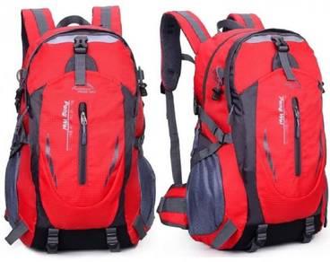 J0170 Red Travel Bag Hiking Climbing Backpack