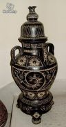 1970s Vintage Black and White Vase (22 inches)