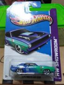 Hotwheels '70 Plymouth AAR Cuba Blue
