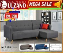 3 seater L shape sofa (M-3195)22/04