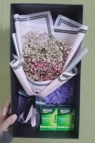 Babys Breath Flowers Box