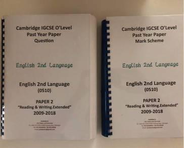 IGCSE English paper 2 question & mark scheme