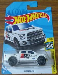Hot Wheels - 15 Ford F-150 K&N (White)