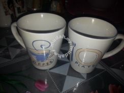 Collectible baby luck couple mugs cups