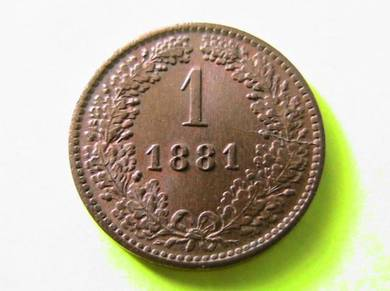 Austria 1 Kreuzer 1881 [Kod : A2020]
