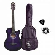 38Inch Gitar Pakej-Free Bag (Purple) - Trg 2
