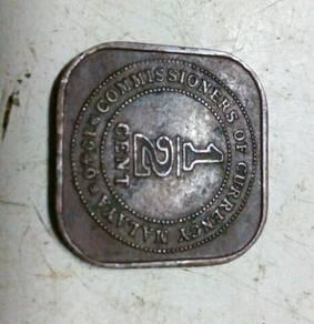 Old malaya coin1/2 cent (malaysia)
