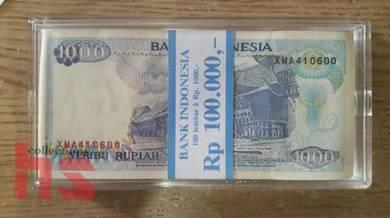 Indonesia 1000rp 1992 100pcs 100pcs Replacement