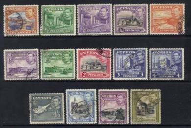 Cyprus 1938-1951 kgvi 14 used cat 12+ bl269