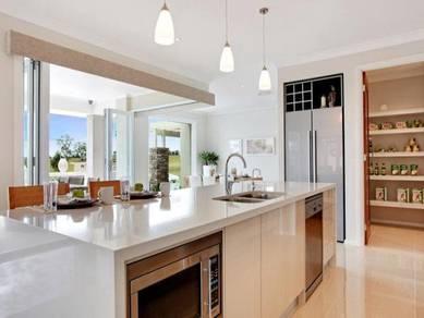 Kitchen cabinet hilltop cheras melamine promo 3999